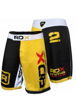 Шорты RDX Combat Shorts MMA Polygon желтые