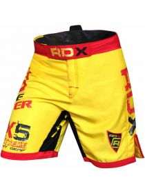 Шорты RDX Bicolor Fighting MMA желтые