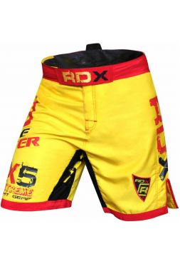 Шорты RDX Bicolor Fighting MMA желтые