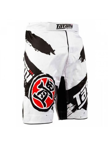 Шорты MMA Tatami Infinity Fight Shorts бело-черные