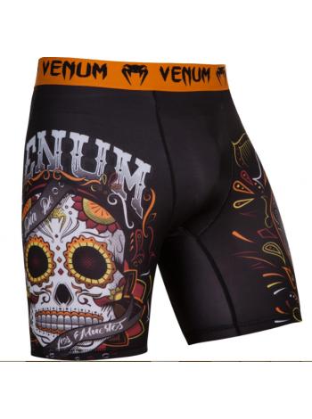 Компрессионные шорты ММА VENUM SANTA MUERTE 2.0 черные