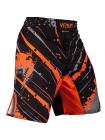 Шорты ММА VENUM WAVE PIXEL черно-оранжевые