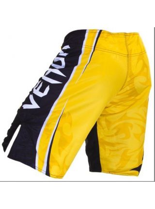 Шорты ММА черно-желтые Venum Carlos Condit