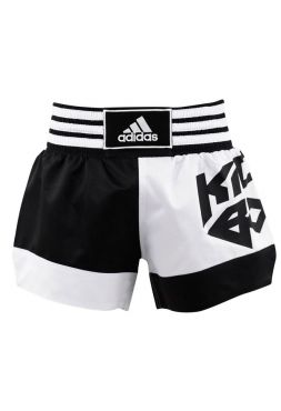 Шорты для кикбоксинга Adidas Micro Diamond бело-черные