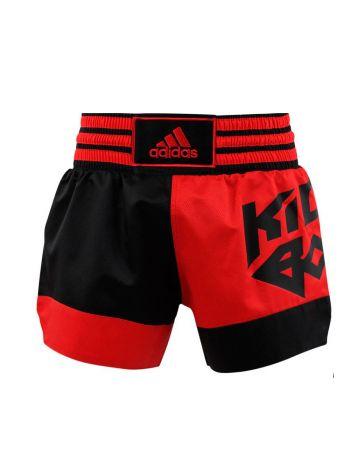 Шорты для кикбоксинга Adidas Micro Diamond красно-черные