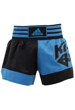 Шорты для кикбоксинга Adidas Micro Diamond сине-черные