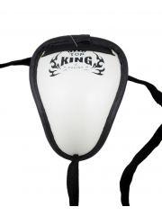 Защита паха Top King белая на шнурке