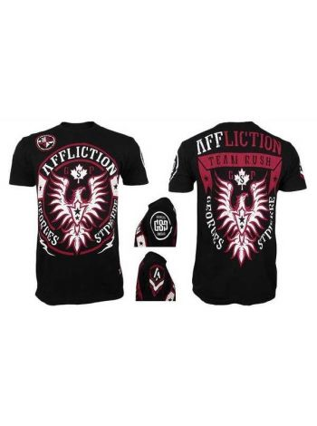 Футболка черная Affliction Georges St Pierre