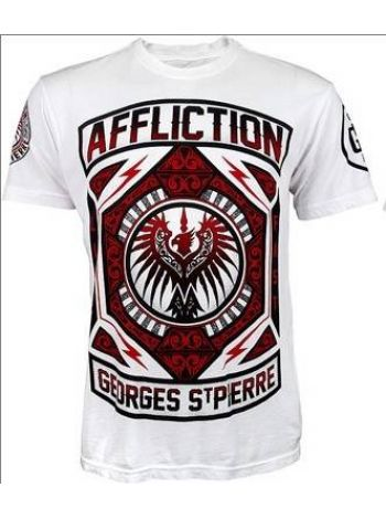 Футболка белая Affliction Georges St Pierre