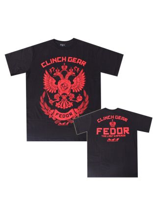 Футболка Clinch Gear Fedor The Last Emperor черно-красная