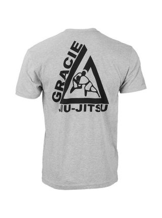 Футболка Gracie Jiu-Jitsu Gracie Fighter серая