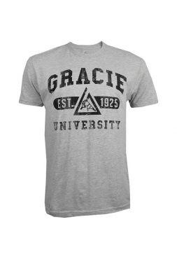 Футболка Gracie Jiu-Jitsu Gracie University серая