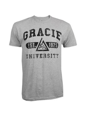 Футболка Gracie Jiu-Jitsu Gracie University серая