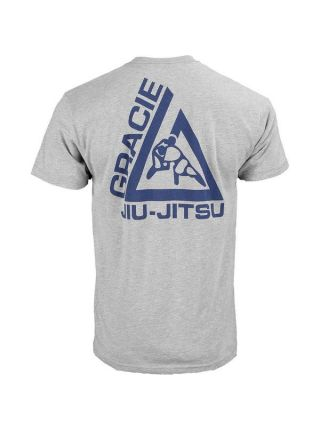 Футболка Gracie Jiu-Jitsu Tap Nap Or Snap серая