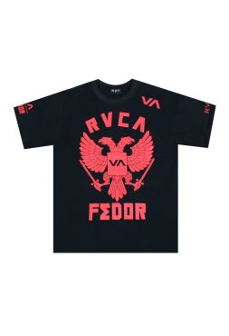 Футболка черная RVCA Fedor