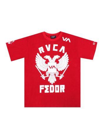 Футболка красная RVCA UFC Fedor