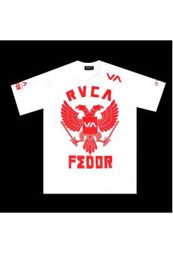 Футболка белая RVCA Fedor