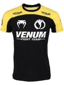Футболка Venum Team Machida желто-черная