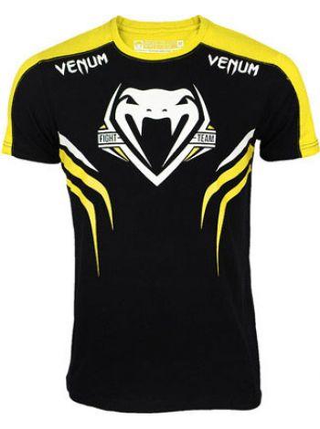 Футболка Venum Shockwave 2 желто-черная