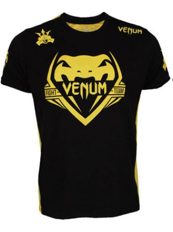 Футболка Venum Shogun Team Shockwave желто-черная