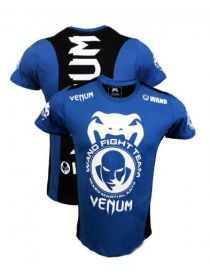 Футболка Venum Wand Fight Team Shockwave синяя