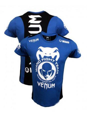 Футболка Venum Wand Fight Team Shockwave синяя