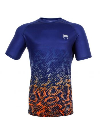 Футболка Venum Tropical Dry Tech сине-оранжевая
