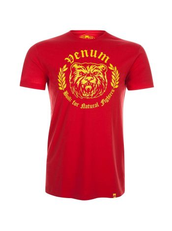 Футболка Venum Natural Fighter Bear красная