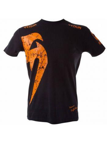Футболка Venum Giant черно-оранжевая