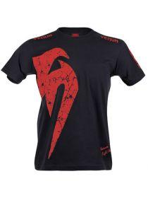 Футболка Venum Giant Red MMA черная