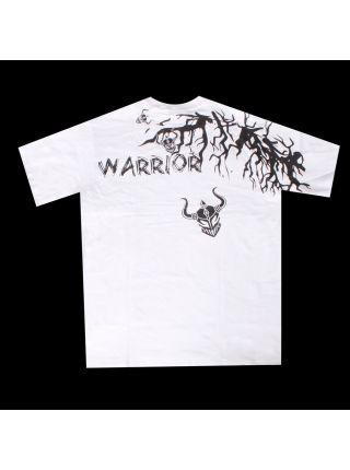 Футболка черно-белая Warrior International Withered Tree