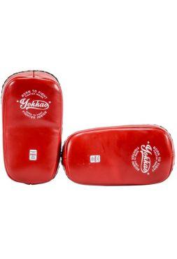 Тайские пады Yokkao Curved Vintage красные