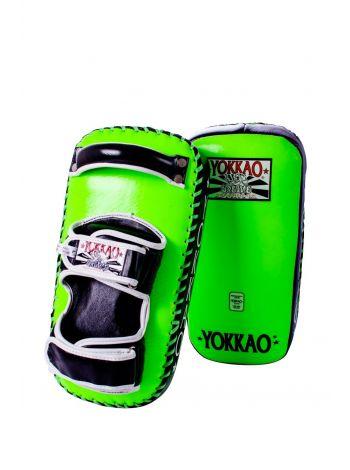 Тайские пады Yokkao PRO ярко-зеленые