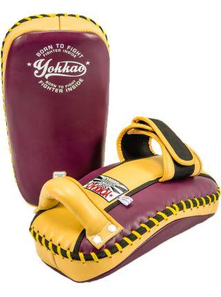 Тайские пады Yokkao Vintage Free Style желто-фиолетовые