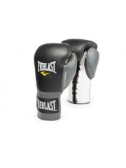 Боевые перчатки Everlast POWERLOCK черно-серые