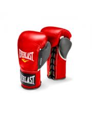 Боевые перчатки Everlast POWERLOCK красно-серые