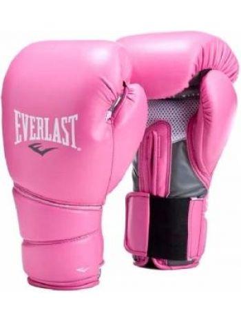 Боксерские тренировочные перчатки Everlast PROTEX2 розовые