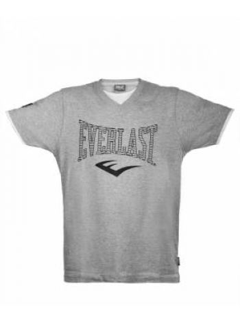 Футболка Everlast V Neck серая