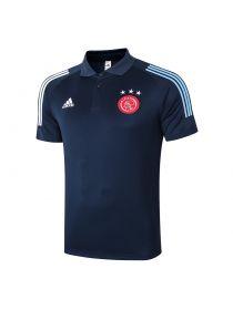 Мужское спортивное поло синее ФК Аякс