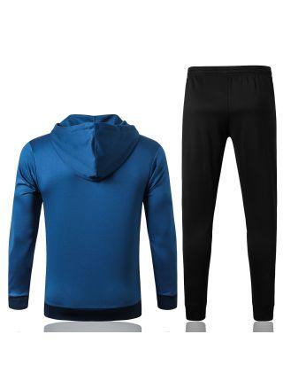 Спортивный костюм сине-черный Арсенал с капюшоном