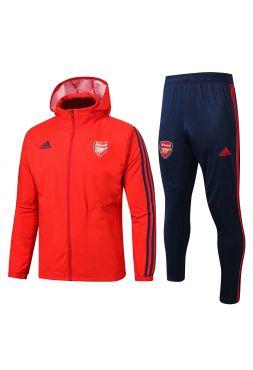 Спортивный костюм красно-темно-синий Арсенал с капюшоном