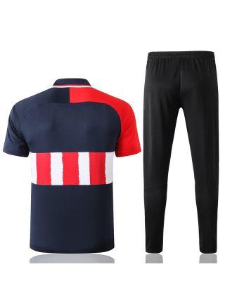 Мужской тренировочный костюм трехцветный ФК Атлетико Мадрид с поло