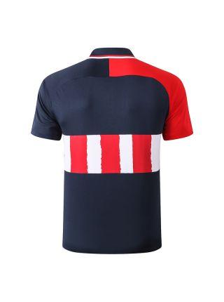 Мужское спортивное поло темно-синее с красными вставками ФК Атлетико Мадрид