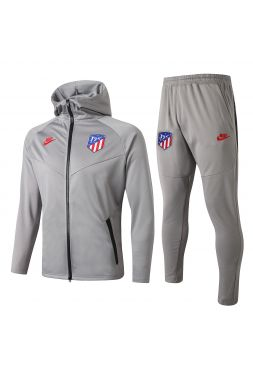 Спортивный костюм серый Атлетико Мадрид с капюшоном