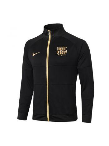 Мужская спортивная олимпийка черно-золотая ФК Барселона