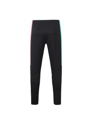 Мужские спортивные штаны черные с розово-мятными полосами ФК Барселона