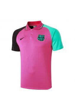 Мужское спортивное поло розовое ФК Барселона