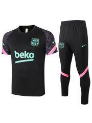 Мужской тренировочный костюм черный ФК Барселона