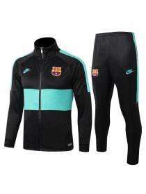 Спортивный костюм в мятную полоску Барселона с молнией