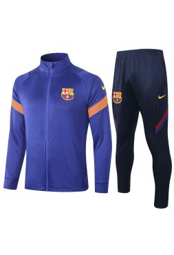 Спортивный костюм синий с темно-синим Барселона с молнией